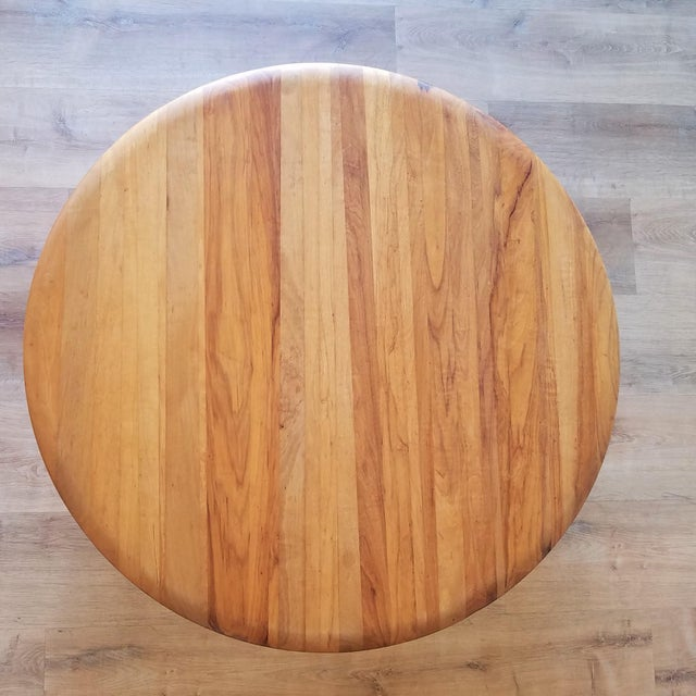 Mid-Century Modern Round Maple Coffee Table For Sale - Image 4 of 11