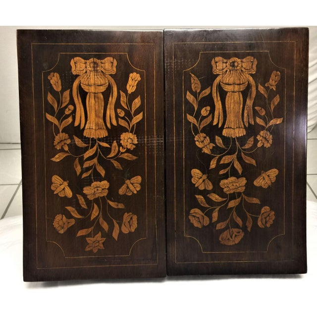 Antique Marquetry Inlaid Dressing Table For Sale - Image 12 of 13