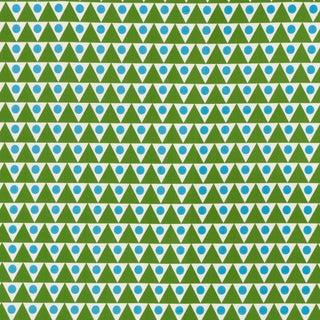 Schumacher X Studio Bon Pennant II Indoor/Outdoor Fabric in Green & Aqua For Sale