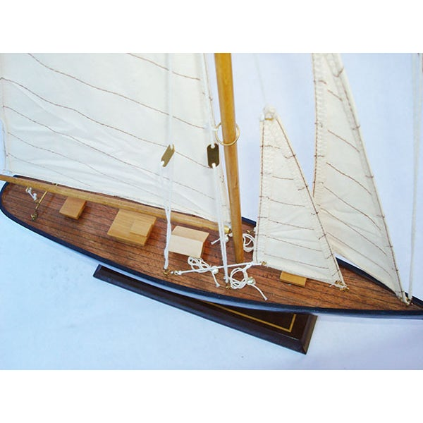 Handmade Wooden Sailboat Model - Image 2 of 4