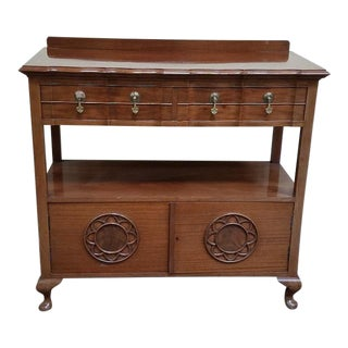 Charming 1920s Mahogany Serving Console