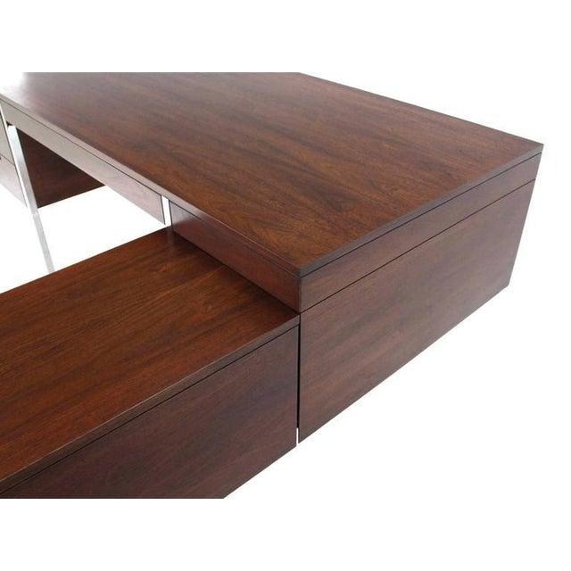 Large Walnut Dunbar Executive Desk with Return For Sale - Image 10 of 11