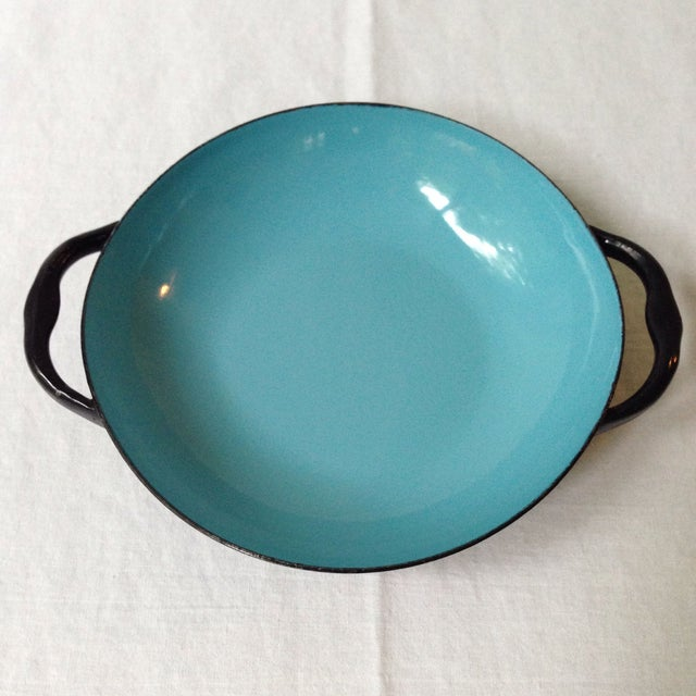 Contemporary Blue & Black Enameled Bowl For Sale - Image 3 of 6