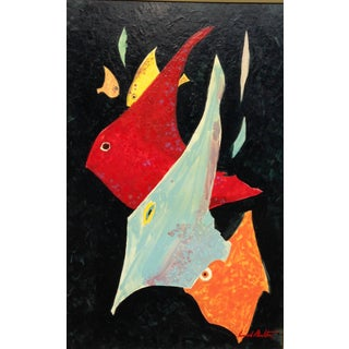 Conrad Moulton Abstract Fish Giclee Print of the Painting Preview
