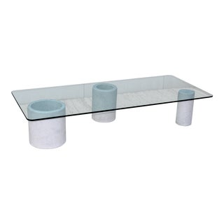 Carrara Marble Modernist Italian Coffee Table