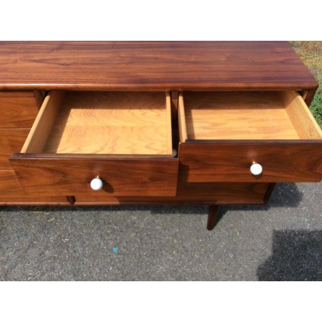 Kipp Stewart for Drexel, Walnut Dresser & Mirror - Image 5 of 10