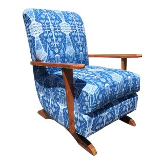 Reupholstered Maple Platform Rocker