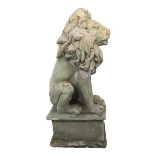 Large Plaster Lion Statue