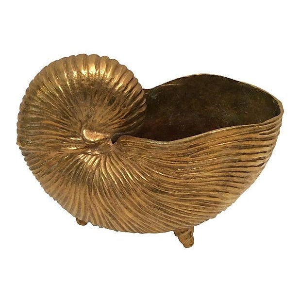 Vintage Brass Seashell - Image 2 of 4