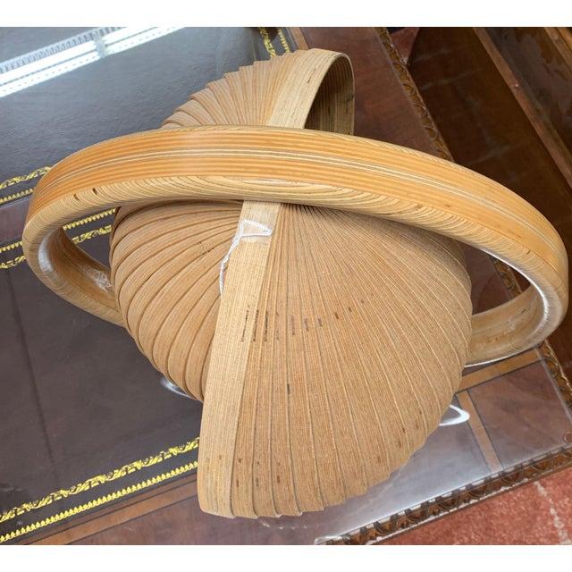 Wood Danish Modern Nautilus Lamp For Sale - Image 7 of 12
