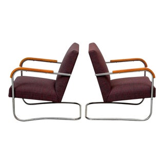1930s Anton Lorenz for Thonet Lounge Chairs - A Pair