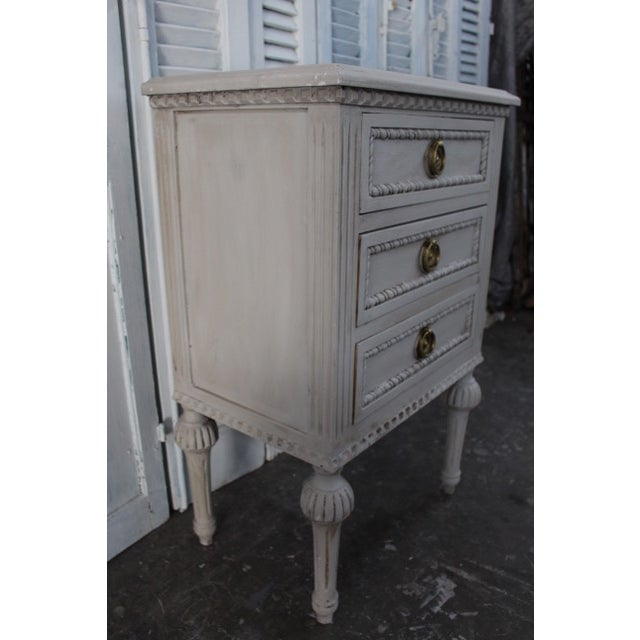 Metal 20th Century Swedish Gustavian Style Nightstands - A Pair For Sale - Image 7 of 13