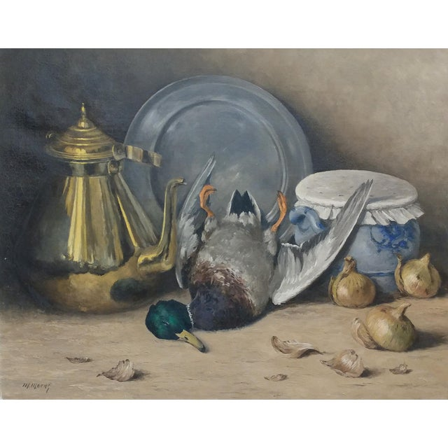 Realism Moeng - Still Life W/Dead Game -19th Century Oil Painting For Sale - Image 3 of 10