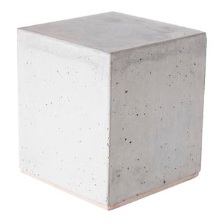Concrete Cube Side Table For Sale