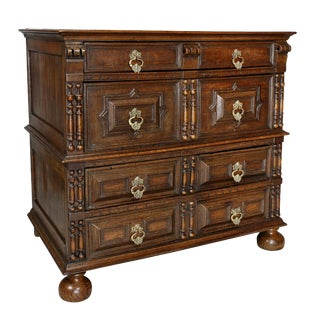 Jacobean Oak Chest of Drawers For Sale