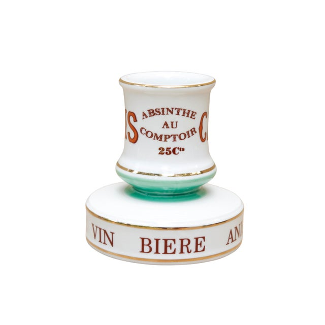 Parisian Cafe French Ceramic Match Striker For Sale In Boston - Image 6 of 6