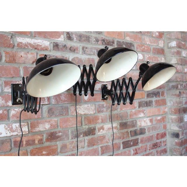 1930s Christian Dell for Kaiser Extendable Wall Lamp For Sale - Image 5 of 10