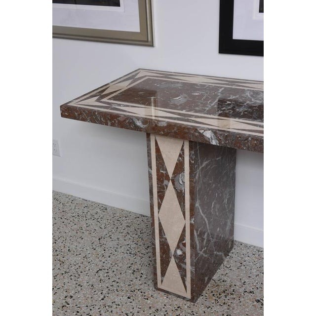 Large-Scale Italian, Neoclassical-Style Marble Console/Buffet Table - Image 3 of 9