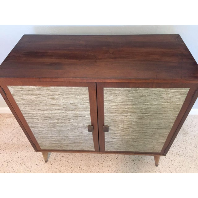 Mid-Century Cabinet with Woven Doors - Image 3 of 9