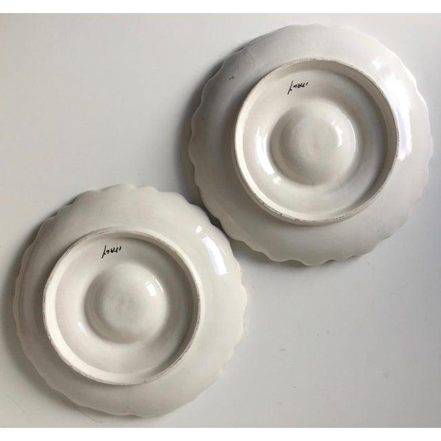 2 Italian Faience Artichoke Plates For Sale - Image 4 of 12