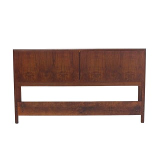 Mid Century Modern Oiled Walnut Danish Full Size Headboard For Sale