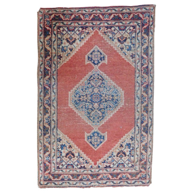 Antique Persian Tabriz Rug - 1′8″ × 2′8″ For Sale