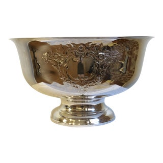 Silver Plate Footed Bowl For Sale