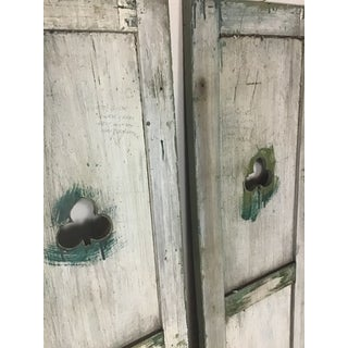Antique Rustic Shutters With Shamrock Cut Out - Set of 2 Preview