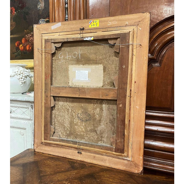 19th Century French Oil on Canvas Painting in Carved Frame Signed Haag For Sale - Image 11 of 13