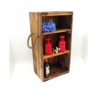 Rustic Wood Nautical Shelf Wine Rack Kids Toy Storage Preview
