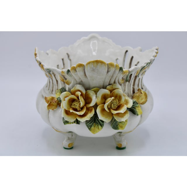 Italian Ceramic Footed Jardiniere For Sale In Tulsa - Image 6 of 13