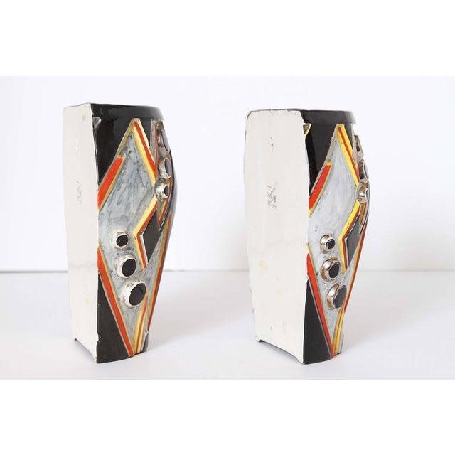 Ceramic Clarice Cliff Bizarre Art Deco Machine Age Sgraffito Wall Pockets For Sale - Image 7 of 11