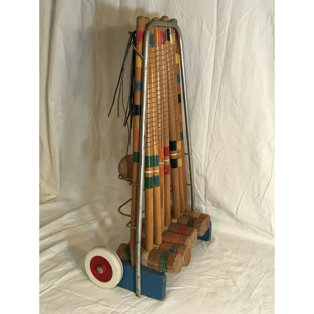 Mid-Century Modern 1950's Croquet Game Set For Sale - Image 3 of 11