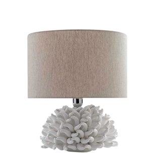 Italian Ricco Caprese White Anemone Table Lamp