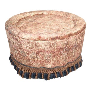Hollywood Regency Custom Ottoman-Style Side Table For Sale