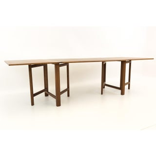Mid Century Modern Bruno Mathsson for Karl Mathsson Maria Expanding Teak Dining Table Preview