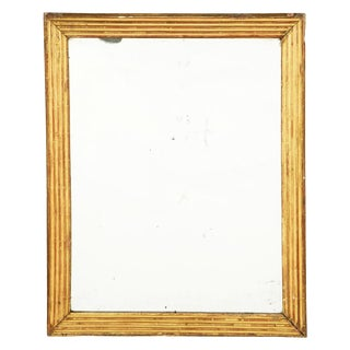 1850 French Gilt Wood Mirror For Sale