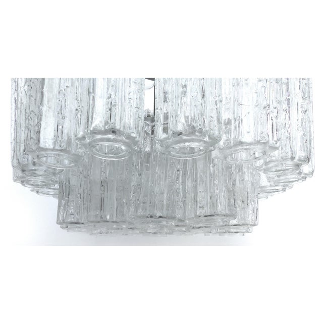 Italian Mid-Century Modern Venini Blown Glass Two Tiered Chandelier For Sale In Miami - Image 6 of 12