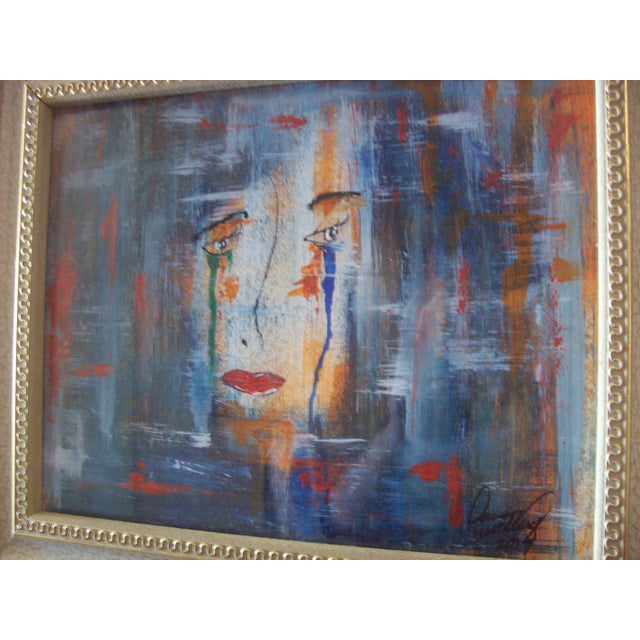 """Face"" Original Mixed Media Painting by Dawn Walling - Image 5 of 5"