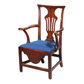 George III Mahogany Armchair For Sale