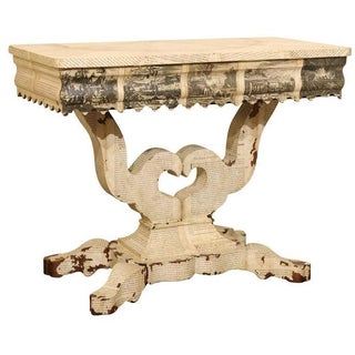 American Empire Decoupaged Table For Sale