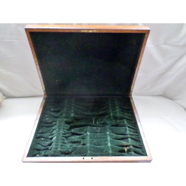 Antique Golden Oak Silver Chest /Service Box for Flatware For Sale - Image 4 of 11
