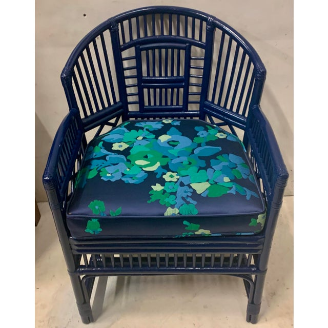 1970s Pair of 1970s Chinese Chippendale Style Bamboo Chairs For Sale - Image 5 of 8