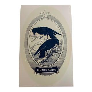 Antique Ravens Reproduction Print For Sale