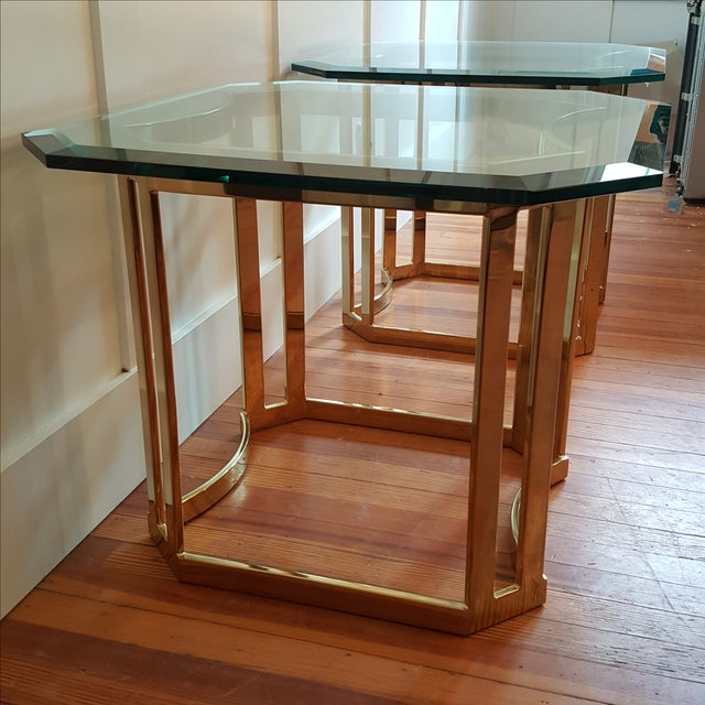 Milo Baughman Style Side Tables - A Pair - Image 4 of 8