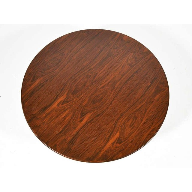 Ward Bennett Rosewood and Aluminum Coffee Table by Lehigh For Sale - Image 9 of 11
