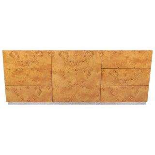 Mid-Century Modern Burlwood & Chrome Dresser or Sideboard