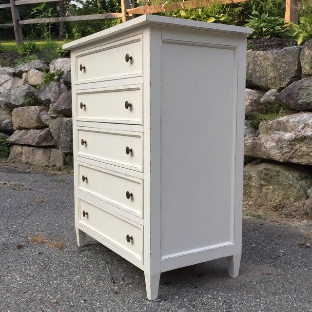 Crate & Barrel Crate & Barrel White Highboy Dresser For Sale - Image 4 of 10