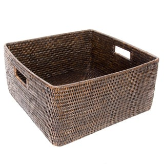 Artifacts Rattan Square Basket For Sale