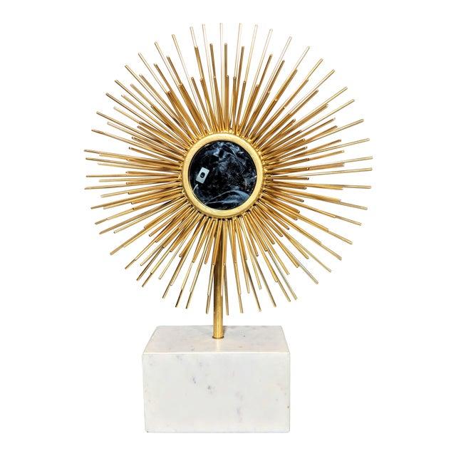 Modernist Starburst Tabletop Mirror Sculpture For Sale
